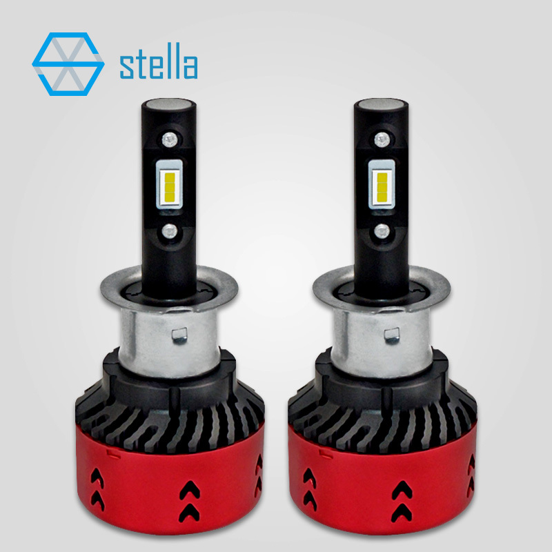 Car Styling LED H3 Headlight Foglights Head Lamp Canbus Built In Decoder Led Bulb New Upgraded