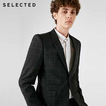 SELECTED Blackrock's New Men Containing Plaid Business Suit Blazer Bussiness Clothes T | 41835Y501 - DISCOUNT ITEM  58 OFF All Category