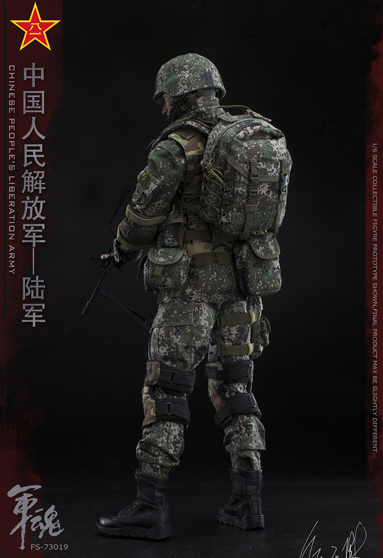 1/6 Scale Chiese People's Liberation Army Soul-Series Army Machine Gunner Military Solider Action Figure Full doll collection 15