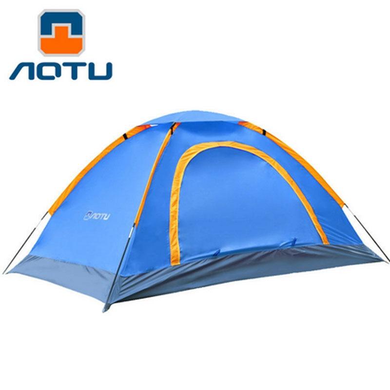 1-2 fő egy réteg rétegnyomás gumi sátor Kültéri kemping sátor - Kemping és túrázás