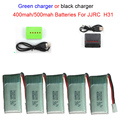 JJRC H31 Battery Spare Parts 3.7V 400 mAh 30C Li-Battery H31-011 JJRC H31 Battery 5PCS With 5in1 Charger Cable