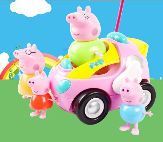 In Stock  On Sale Pig Remote Controll Car Rc Car New Kids Toys  Radio Racing Car