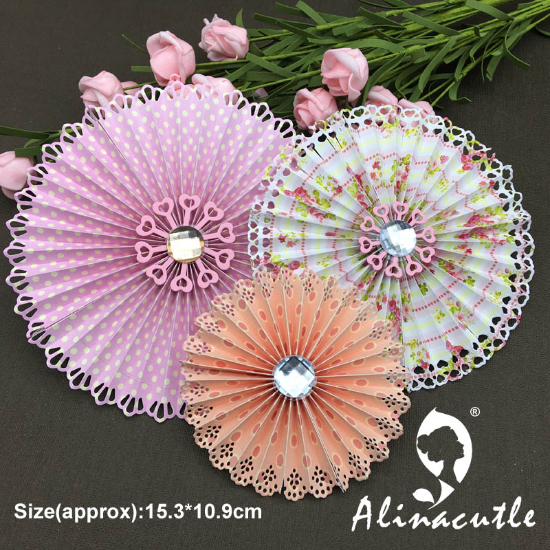 METAL CUTTING DIE cut alinacraft rosette 4pc heart edge doily Scrapbook paper craft album card punch knife art cutter cut die title=