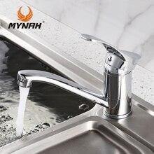MYNAH Russland kostenloser versand Neue Ankunft küchenarmatur Küchenarmatur Einlochmontage Wasserhahn torneira cozinha
