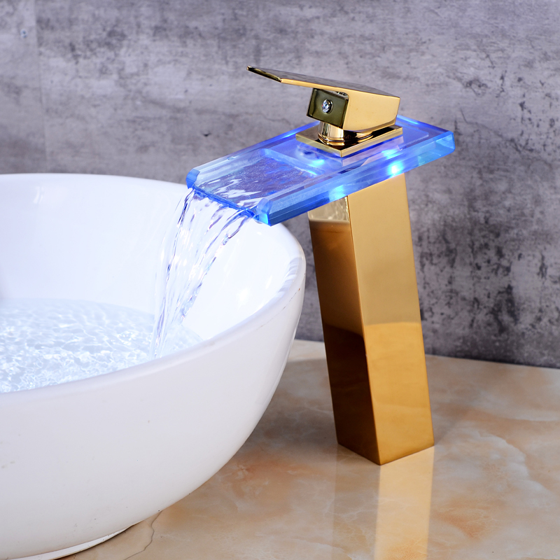 New Sink Tap Temperature Controlled Faucet,LED Crane Modern Water Tap  Bathroom,Waterfall Faucet,Bathroom Faucets, Free Shipping In Basin Faucets  From Home ...