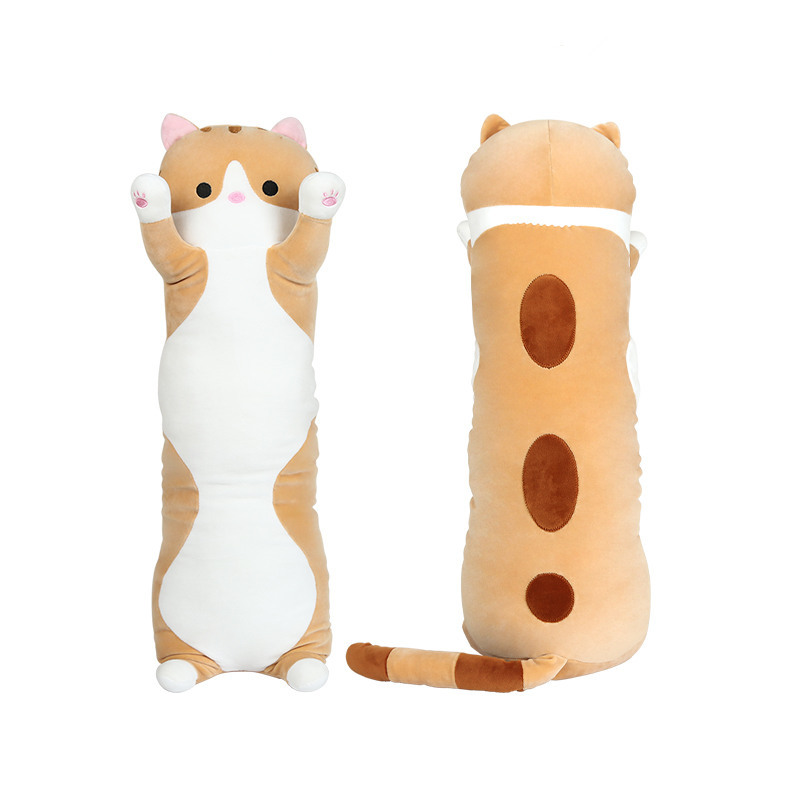70CM orange soft cute Plush long Cat Doll Pillow Cushion Stuffed Bolster Gift футболка just cavalli just cavalli ju662emaetx2