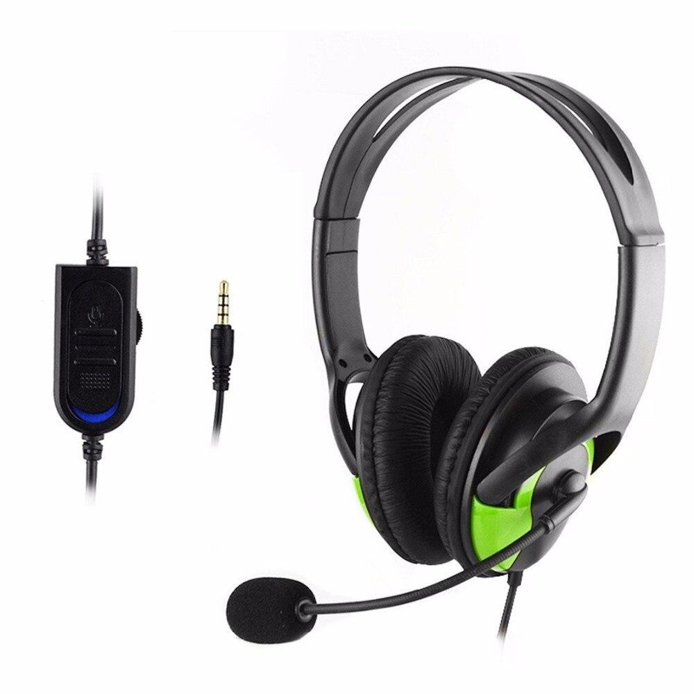3.5mm plug wired gaming headset auriculares estéreo para auriculares con micrófo