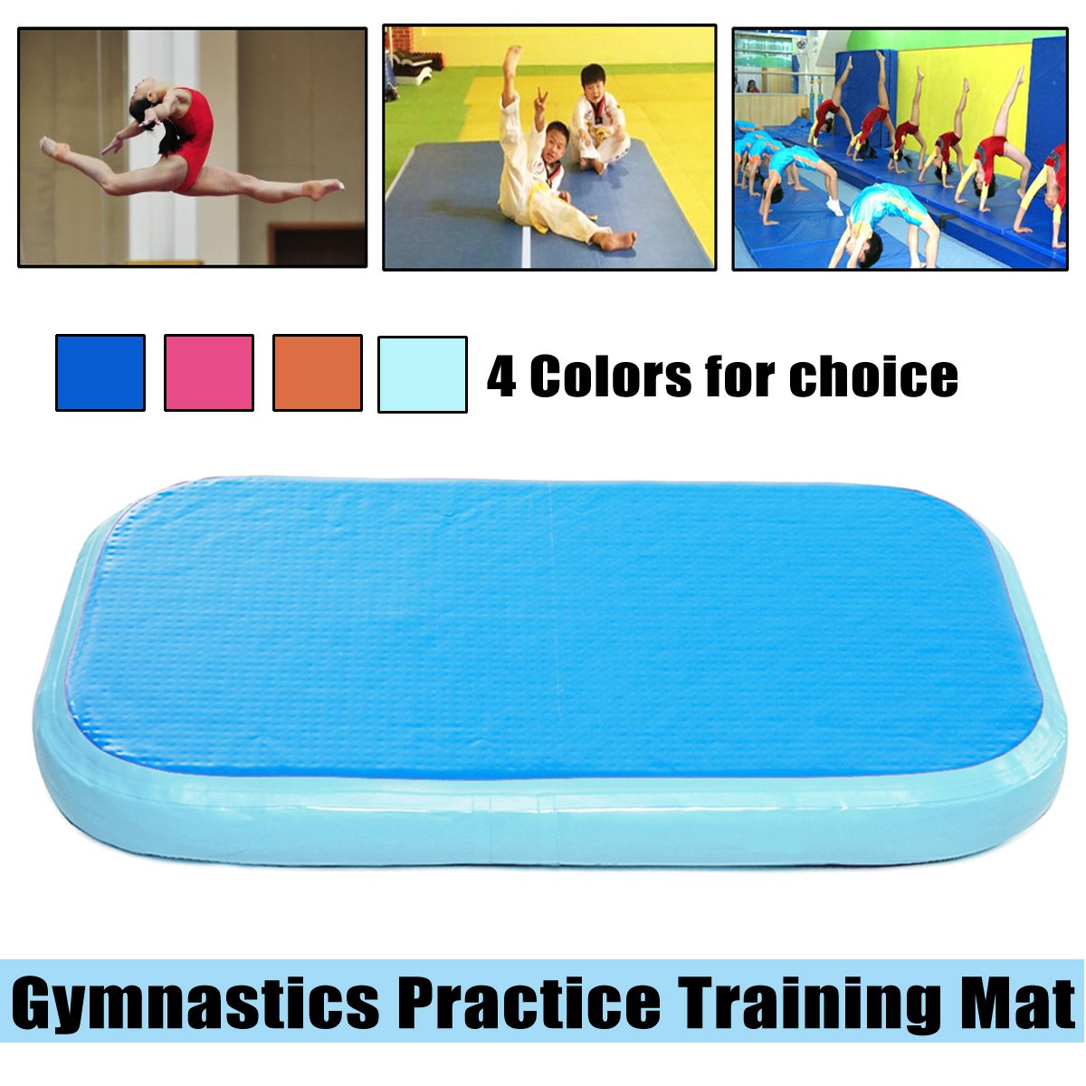 100x60x20cm Inflatable Air Tumbling Track Roller Home Training Matfor Gymnastics Gym Exercise Mat Air Track Tumbling Mat gymnastics mat thick four folding panel fitness exercise 2 4mx1 2mx3cm