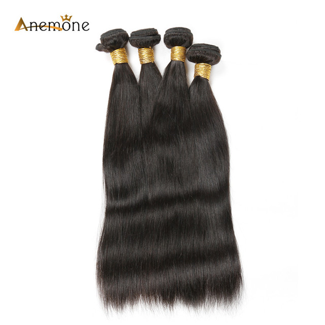 Anemone Hair Weaves 34 36 38 40 Inch Brazilian Straight Human Hair
