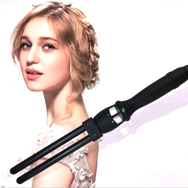 New Double Barrel 13mm Hair Curls Wand Nano Ceramic Hair