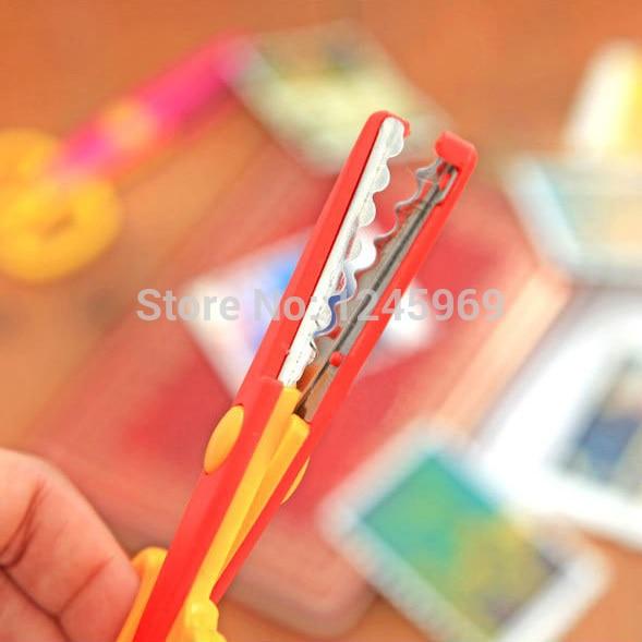 Random Color 1Set/6pcs Design Decorative Wave Lace Edge Craft School Scissors DIY for Scrapbook Handmade Kids Artwork Card Safe