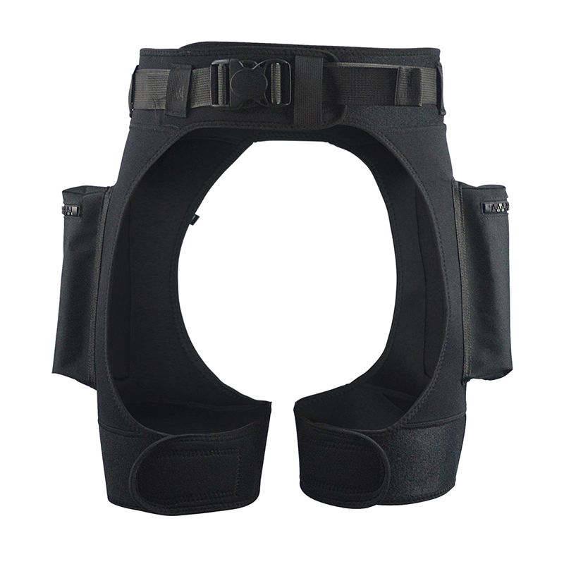 LayaTone 3mm Neoprene Wetsuit Shorts Men Submersible Pocket Diving Short Leg Pockets Drop Pants Fishing Surfing