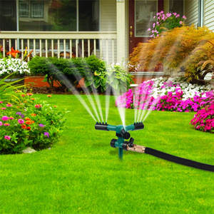 Lawn Sprinkler Irrigation Garden-Water Automatic 360-Rotating Yard Cooling -0424