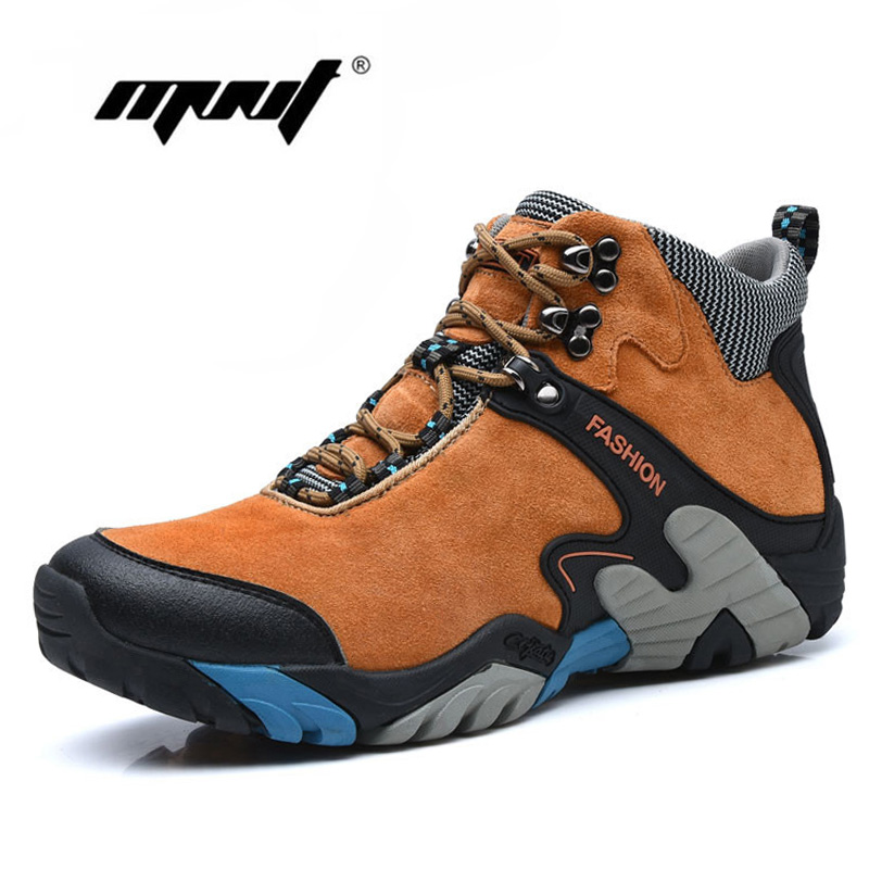 Plus Size Suede Leather Men Boots Warm Outdoor Snow Ankle Boots Shoes Waterproof Autumn Winter Shoes With Fur Men Shoes in Basic Boots from Shoes