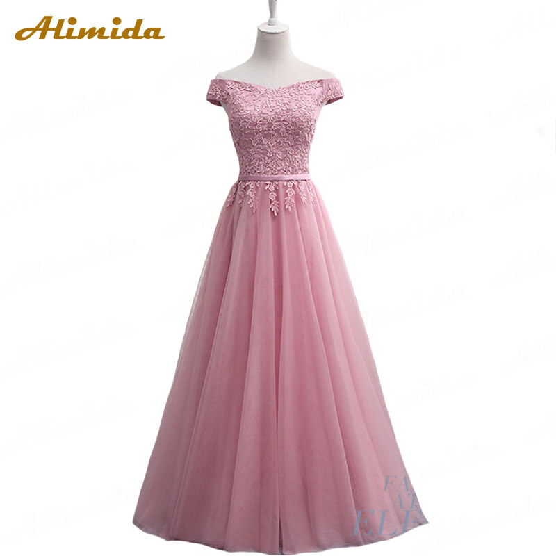 ALIMIDA Special Occasion   Dress   2018 New Sleeveless   Evening     Dresses   Appliques Prom Party   Dress   A-Line Vestido De Festa