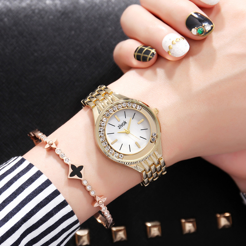 zivok Fashion Top Brand Luxury Women Bracelet Watches Crystal diamond Alloy Clock Lovers Ladies Quartz Wrist Watch As Girl Gift zivok fashion brand women watches luxury red lovers bracelet wrist watch clock women relogio feminino ladies quartz wristwatch
