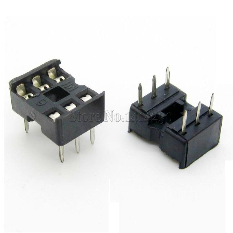 10Pcs 6pin DIP IC Sockets Adaptor Solder Type 6 Pin DIP-6
