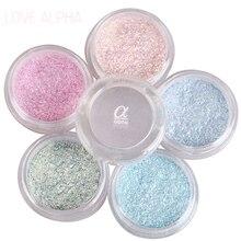 LOVE ALPHA 13 Colors Eye Shadow Flash Powder Super Bright Pearl Shining Bright Glitter Powder Pink Diamond Brand Makeup