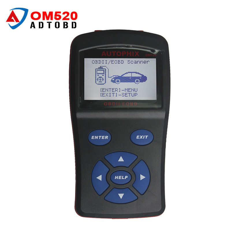 Professional OBDMATE OM520 OBD2 Model Code Reader OBDII Auto J1850 PWM J1850 VPW ISO9141 KWP2000 DTC Free Shipping 100% original autel maxidiag elite md701 all system ds model obdii auto code reader md 701 for japanese cars