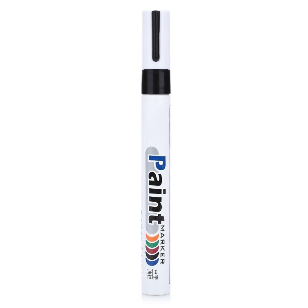 10 цветов водонепроницаемая автомобильная шина масляная автомобильная краска ручка краска ing Mark Ручка Авто резиновая шина протектора CD металлический маркер с перманентной краской - Цвет: black