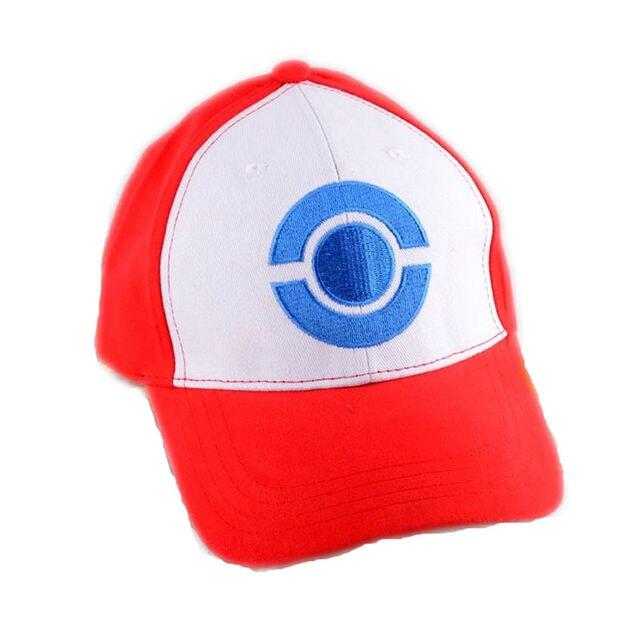 Pokemon Satoshi Ash Ketchum Cosplay prop temporada 4 blanco y negro gorra  de béisbol a4384e04355