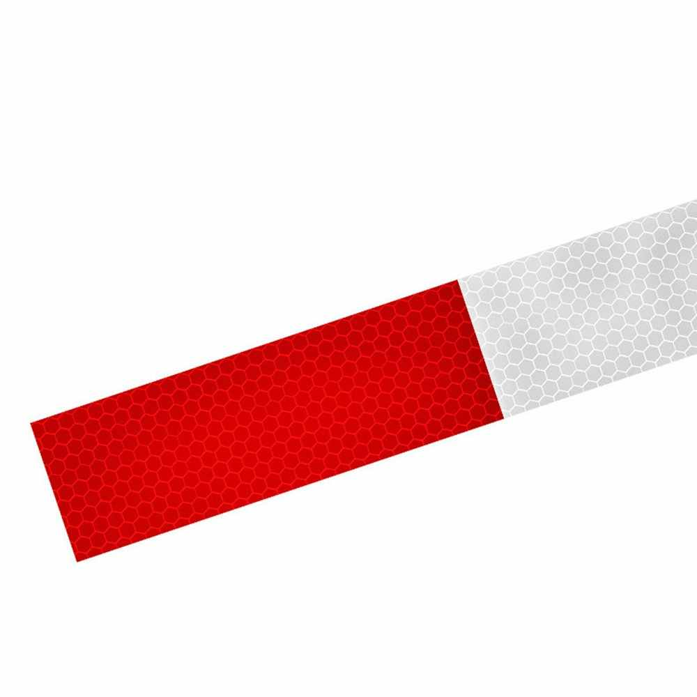Car Reflective Film Warning Tape Truck Annual Inspection Crystal Color Grid Reflective Strip Red And White Reflective Stickers