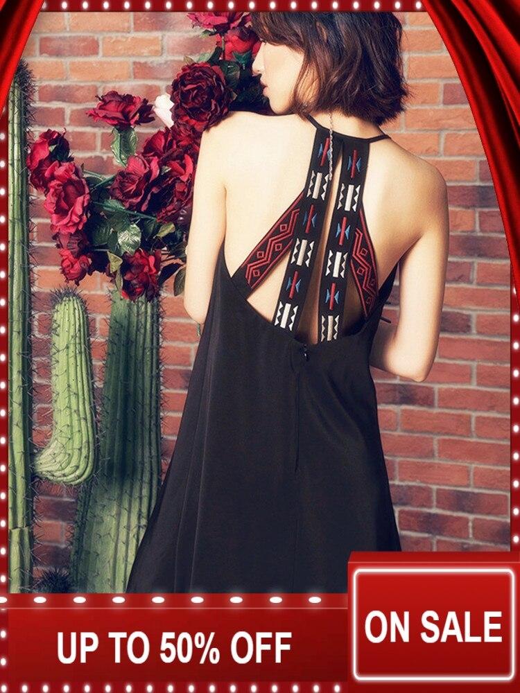 AIGYPTOS Aporia As Spring Summer women bohemia national trend embroidery racerback beach casual short dress vestidos