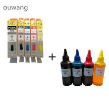 PGI-570 refillable ink cartridge For CANON PIXMA MG5750 MG5751 MG5752 MG5753 MG6850 MG6851 MG6852 MG6853 + 4 Color Dye Ink 400ml