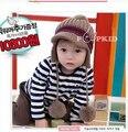 Bebé Del invierno Niño Niños Niñas Invierno Oreja Sombrero Caliente bebe sombrero con la bufanda beanie cap kids invierno cap niños Headwear