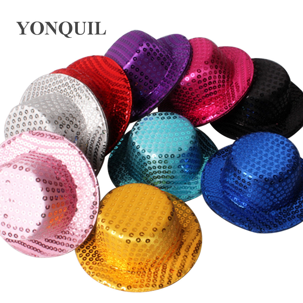 """Available in 14 Colors 5/"""" Hot Pink Mini Top Hat Fascinator Base"""