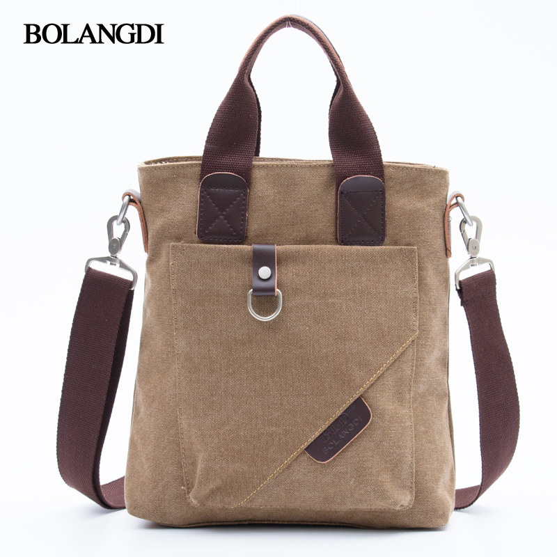BLD Brand Canvas Casual Briefcase High Quality Business Shoulder Bag for Men Messenger Handbags Vintage Man Crossbody Bags high quality casual men bag