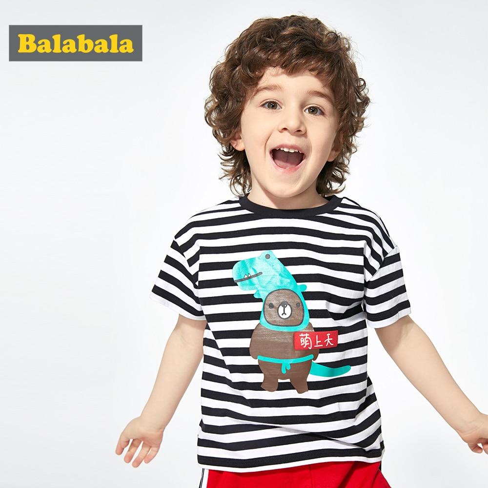 Tees Balabalachildren-Wear Tshirt Top Short-Sleeve Baby Stripes Cotton Summer New