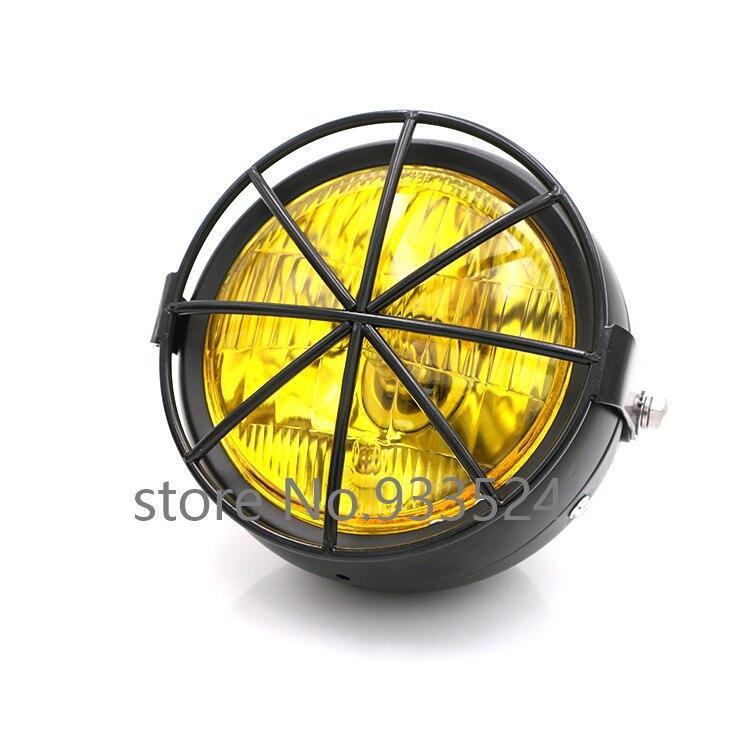 6 5 Black High Low Beam Side Mount Headlight font b Lamp b font For Honda