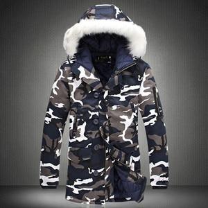 Image 1 - 冬のジャケットの男性 2020 ホット販売迷彩軍厚く暖かいコートの男性のパーカーコート男性のファッションフード付きパーカー男性 m 4XL プラスサイズ