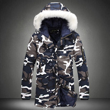 Warm Coat Winter Jacket Hooded Men's Parka Male Army Thick Hot-Sale Plus-Size Fashion