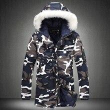 Winterjas Mannen 2020 Hot Koop Camouflage Army Dikke Warme Jas Heren Parka Jas Mannelijke Mode Hooded Parka Mannen m 4XL Plus Size