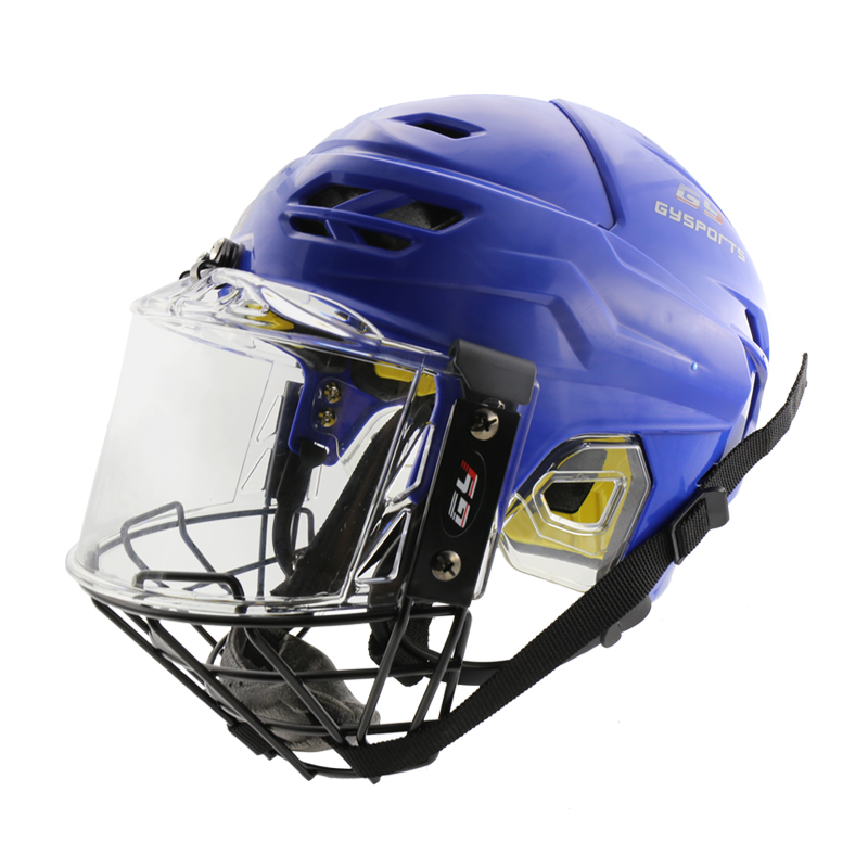 Free Shipping Comfortable Fashion Ice Hockey Player Helmet with Face Shield Visor Mask CE HECC CSA Approved free shipping high quality pp eva foam ice hockey helmet with black wire cage face mask