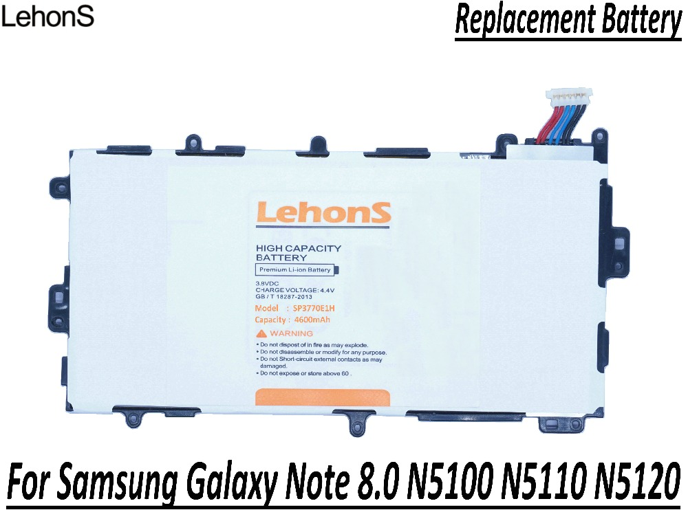 lehons 1x new 4600mah tablet battery for samsung galaxy. Black Bedroom Furniture Sets. Home Design Ideas