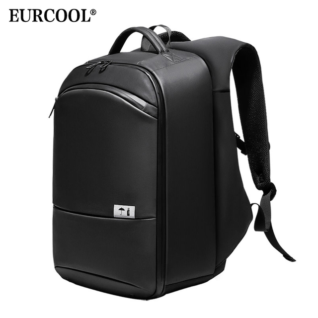 "EURCOOL Multifunction 15.6 ""Laptop Backpack Para Homens Repelente De Água Saco de Escola Adolescente Mochila de Viagem Grande Capacidade Masculino n1940"