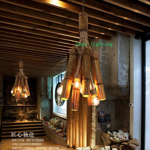 Edison bulb retro pendant lamp bronze cottage style bamboo pendant edison bulb retro pendant lamp bronze cottage style bamboo pendant lamp cloth shop handmade pendant lights aloadofball Images