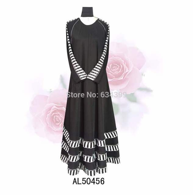 Black big hem msulim abaya fashion long islamic dress