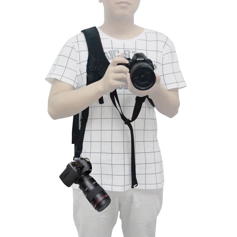 Black Photography Quick Single Shoulder Belt Camera Strap for Canon Nikon Dslr SLR