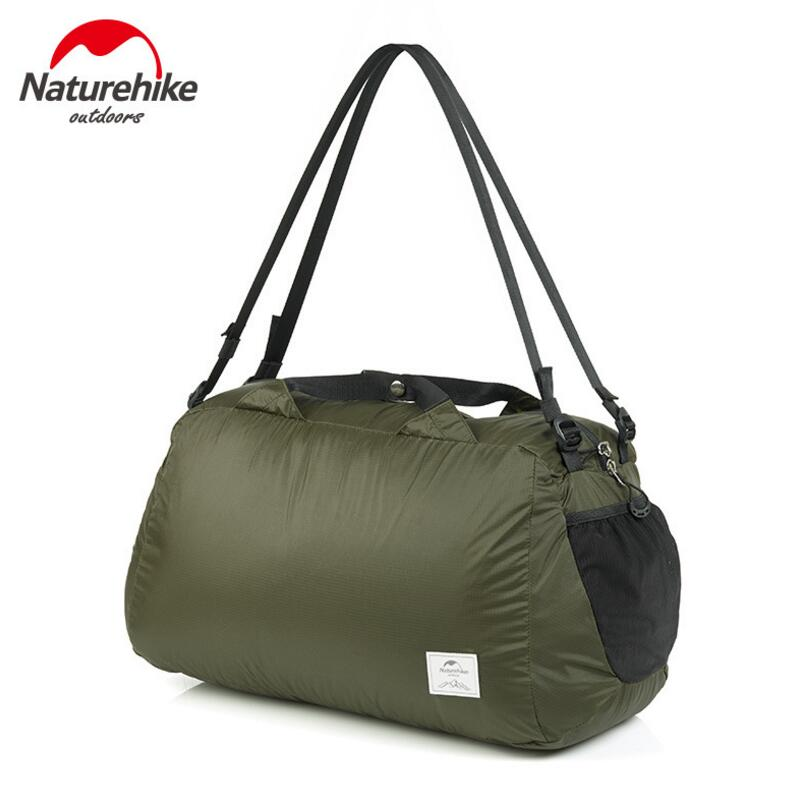 Naturehike Men Travel Bags Ultralight Folding 20D Silicon Waterproof Bag Women Shoulder Bag 32L Outdoor Tourist Backpack