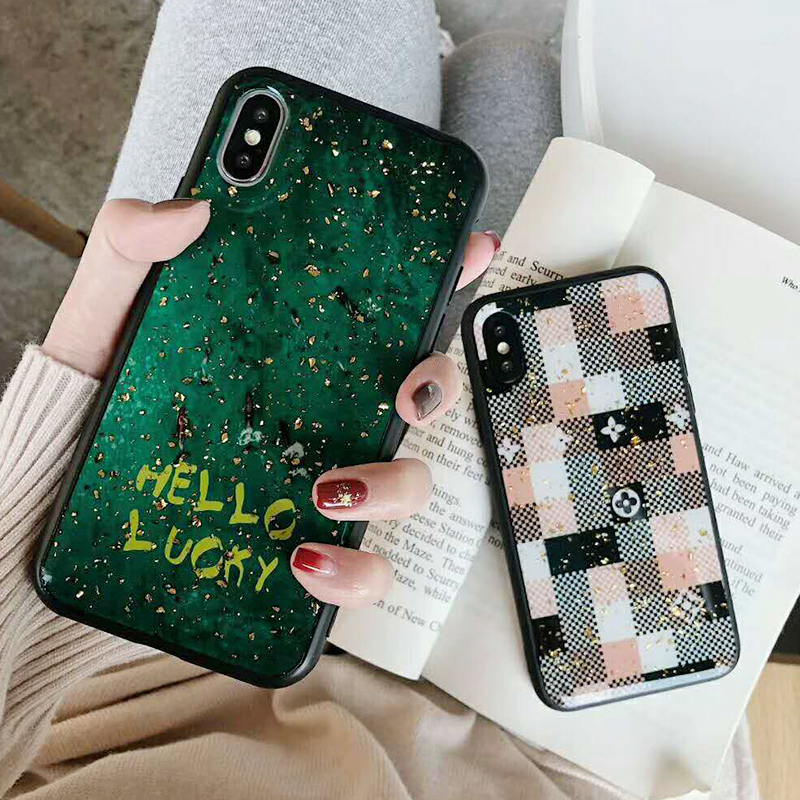 Luxury Gold Foil Bling Marble Phone Case For iPhone XS Max X XR Soft TPU Cover For iPhone 7 8 6 6s Plus Glitter Case Coque Funda (3)