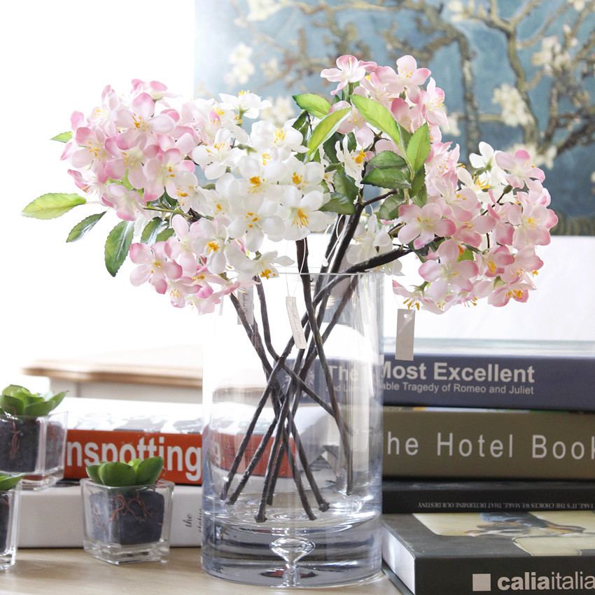 1pc Artificial Flowers Fake Cherry Blossoms For Wedding ...