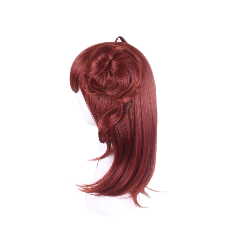 2019 New Hair accessories synthetic Auburn Wine Red hair jewelry for onmyoji Peach demon Cosplay Wig Free Shipping