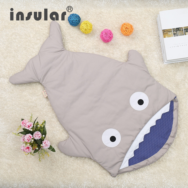 New Arrival Cute Carton Shark Baby Sleep Bag Winer Baby Sleep Sack Warm Baby Blanket Warm Swaddle