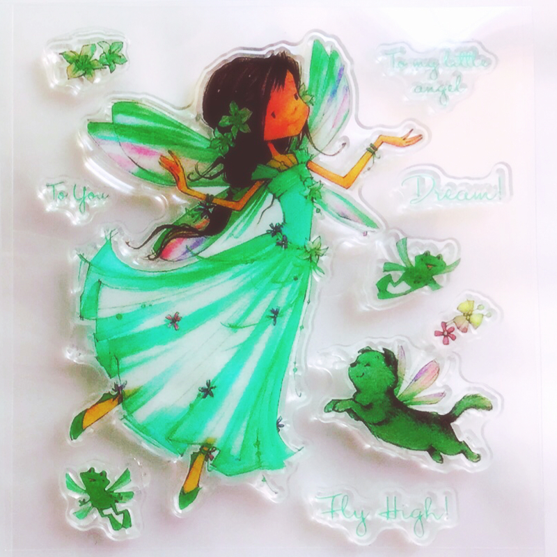 YLCS377 Fairy Silicone Clear Stamps For Scrapbooking DIY Photo Album Cards Decoration Transparent Stamp Craft Clear Stamp New in Stamps from Home Garden