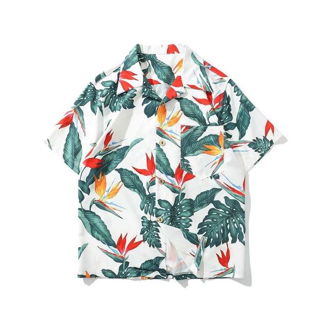 da74ecaae9f0e GONTHWID Floral Hawaiian Aloha Beach Shirts Men Casual Summer Hawaii Aloha  Party Holiday Fancy Shirts Streetwear Short Sleeve