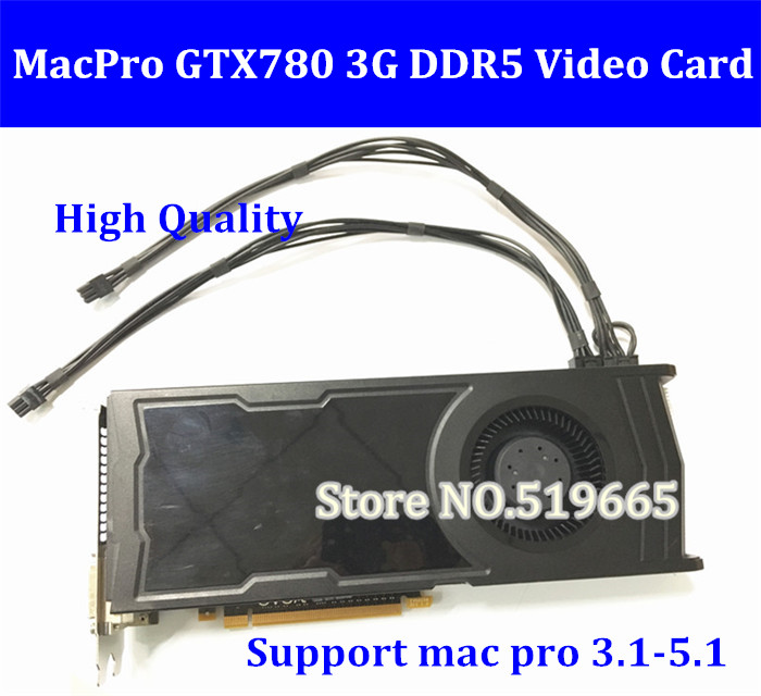цены DHL/EMS Free Original GTX780 3G PCI-E Video Graphic Card Graphic card GTX 780 DVI*2 + HDMI + DP connector with power cable